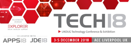 UK Oracle User Group Tech18 conference image